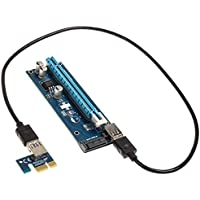 KOLINK PCI-E 1x bis 16 x SATA-basierte Erweiterungskarte Mining/Rendering-Kit 60 cm Grafische vertikale Halterung Mini…