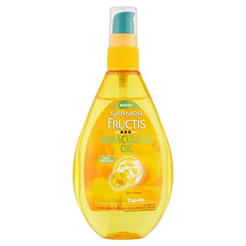 Garnier Fructis Miraculous Oil Olio Mille Usi senza Risciacquo per Tutti i Tipi di Capello, 150 ml