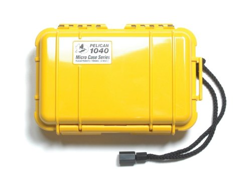 Pelican 1040gelb Micro Case mit Gelb Deckel und Karabiner Pelican 1040 Micro Case