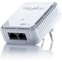 Devolo dLAN 500 duo (Internet de 500 Mbit/s en cualquier enchufe, 2 puertos LAN para cable de red, 1 adaptador Powerline, adaptador de red PLC) color blanco