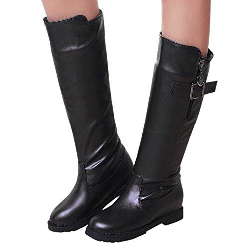 wuayi , Chaussures de ville à lacets pour femme Vert kaki Noir