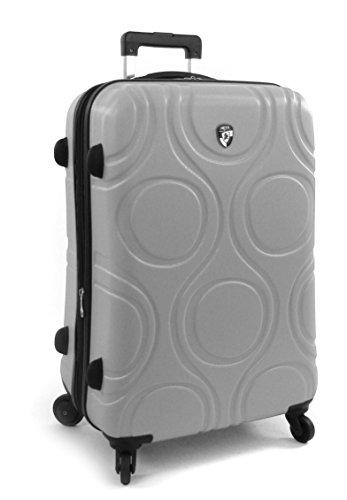 ... 50% SALE ... PREMIUM DESIGNER Hartschalen Koffer - Heys Core Eco Orbis Lila - Handgepäck Grau