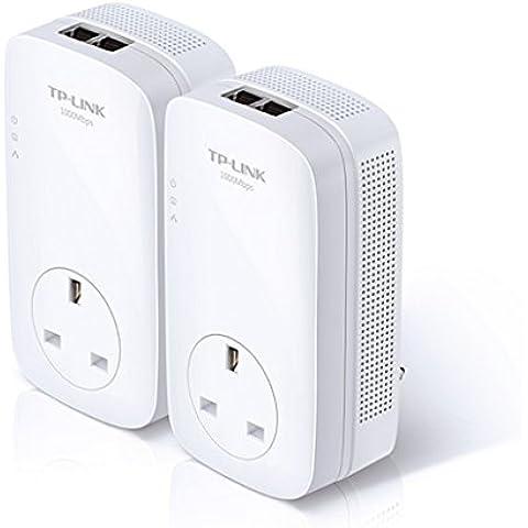 TP link TL-PA251KIT multi-streaming Powerline Starter Kit con AC Pass a través de (UK Plug Only)