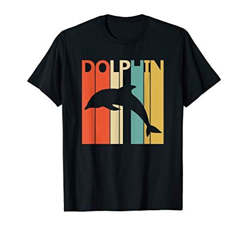 Delfine Erwachsenen T-shirt (Lustige Retro Delfin T-shirt Geschenk)