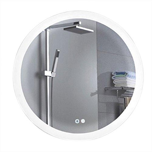 Specchio da bagno rotondo specchio di bellezza europeo specchio del bagno specchio anti-nebbia intelligente led specchio a metà lunghezza specchio di illuminazione specchio illuminato specchio doccia