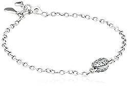 f898f470f1bf Pulsera Pandora para mujer 925 plata esterlina circonio cúbico 18.0 cm  blanco 590504CZ-18