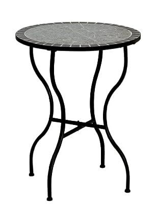 siena GARDEN Gartentisch Tisch Flores rund Eisen Mosaik-Optik