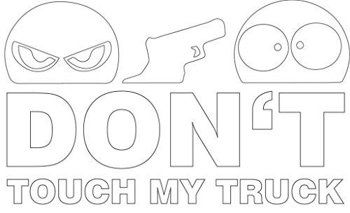 Don\'t Touch My Truck LKW Aufkleber Sticker XL ca. 20x12 cm weiß JDM Autoaufkleber Tuning Fun Trucker Finger Weg! Car Auto Stickerbomb Hinweis Achtung Anfassen Verboten