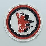 Patch Toppa Logo Flessibile Stampata 3D Cucibile Adesiva Magnetica FOGGIA Calcio - Dim 5,6 X 5,6 cm - Replica