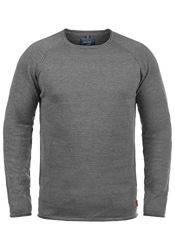 Blend John Herren Strickpullover Feinstrick Pullover Mit Rundhals Und Melierung Aus 100% Baumwolle