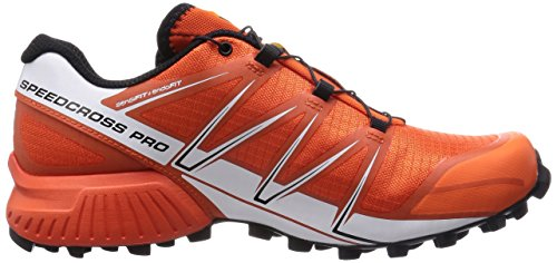 Salomon Speedcross Pro, Chaussures de trail homme Multicolore (Tomato Red/White/Black)