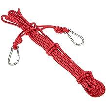 Docooler 6mm * 10m Cuerda de Seguridad Cuerda de Escalada Profesional de alta Resistencia Rescate de