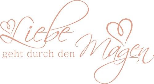 GRAZDesign 620416_40_958 Wandtattoo für Küche | Wand-Spruch Liebe Geht durch Den Magen | Küchen-Sprüche für Küchen-Wände und Schränke (73x40cm//958 Baby Doll) (Baby-doll-tee Liebe)