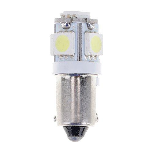 VANKER Voiture T10 BA9S W5W 194 5050 5SMD Indicateur Lumineux à LED Plaque d'immatriculation Ampoules(Blanc)