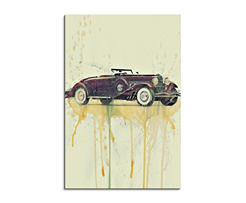 duesenberg-model-90x-60cm-murale-acquerello-arte-immagine-pittura-tela-foto-tela-di-paul-sinus-art