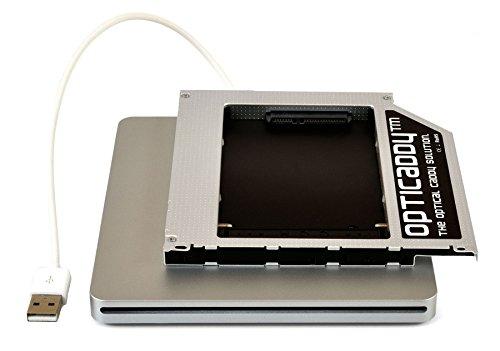 """Preisvergleich Produktbild Opticaddy© SATA-3 HDD / SSD Caddy Adapter & Externes USB Superdrive Gehäuse KIT für alle Apple Unibody-Serien Macbook Pro 13"""" 15"""" 17"""",  Macbook 13"""",  Macbook Alu 13"""" (2008,  2009,  2010,  2011,  2012) mit Opticaddy OptiSpeed Technologie (original Opticaddy Festplattenrahmen,  Einbaurahmen,  Adapter)"""