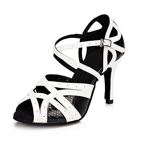 Donne Scarpe da ballo PU Taogo latino DanzaPompe Sandali Taglia 36To41 6cm heel