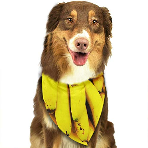 Gxdchfj Banana Fashion Dog Bandana Pet Accessories Easy Wash Scarf -