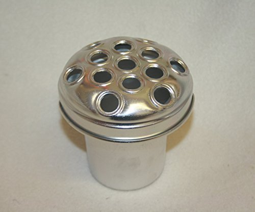 4.5 Silver Grave Vase Container Replacement Cemetery Pot Flowers by floral supplies (Floral Supplies-container)