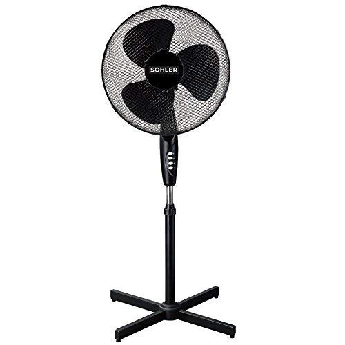 """41dSmGxJd7L. SS500  - Black 16"""" Standing Pedestal Stand Fan Adjustable Oscillating Rotating Stay Cool 3 Speed"""