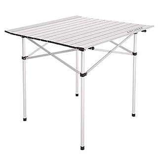 ADO-ME Aluminium Tisch Camping Gartentisch Klapptisch Faltbar und höhenverstellbar Picknicktisch