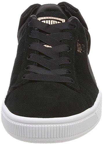 Puma Women    s Suede Bow WN s Trainers  Black  6 UK 6 UK