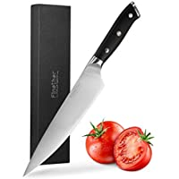 Finether Couteau de Chef, Couteaux de Cuisine Professionnel 20cm Couteau à Légumes Acier Inoxydable Poignée Ergonomique, Anti Dérapante, FDA, LFGB Approuvé