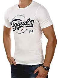 JACK & JONES Herren T-Shirt jorSERRA Tee Mehrfarbig Print Rundhals Slim Fit