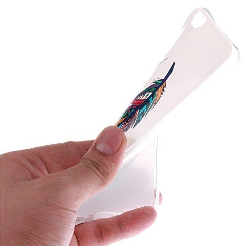 Pour iphone 6 Coque / iphone 6S Housse - 4.7 inch, MYTHOLLOGY - Dreamcatcher Doux Flexible, Premium Silicone TPU Arrière Etui Case Coloré Plume