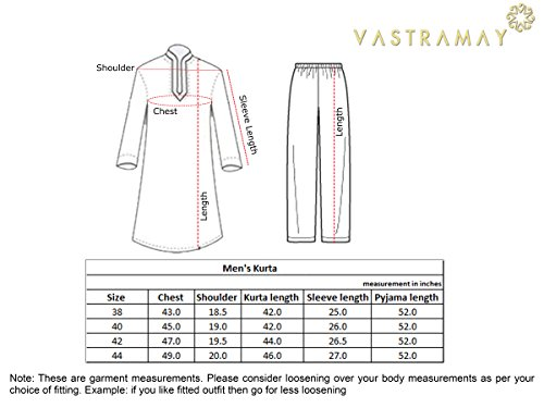 VASTRAMAY Men Cotton Silk Kurta Pyjama and Dupatta Set (Gold_VASMKGO001nPGOnD_38)