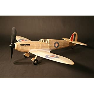 Spitfire complete vintage model rubber-powered balsa wood aircraft kit that really flies!