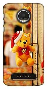 Blutec Cute Teddy Bear Design 3D Printed Hard Back Case Cover for Motorola Moto Z Play