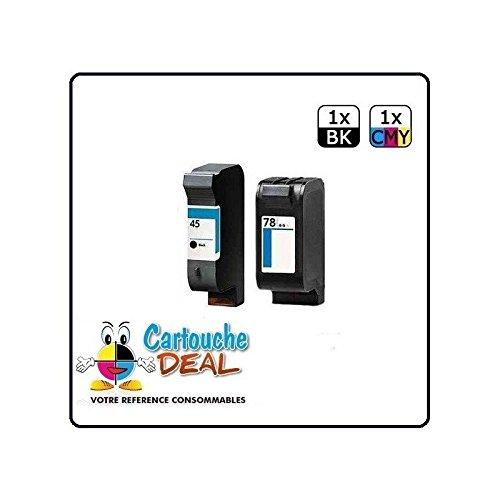 Cartouche Deal ® Lot 2 cartouches générique Deskjet HP45 HP78 1220 1280 6122 6127 930C 9300 932C 935C 950C 952C 959C 960C 970CXI - HP 45 HP 78
