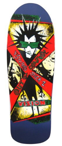 Vision Psycho Stick 2Neuauflage Skateboard Deck 25,4x 80,6cm, violett