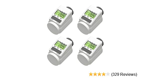 Programmierbarer Heizkörper Thermostat Energiesparregler 4er Set