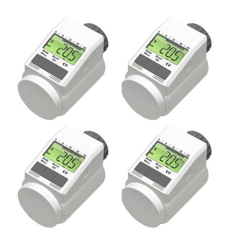 Programmierbarer Heizkörper-Thermostat (Energiesparregler) 4er-Set -