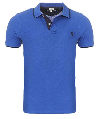 U.S. Polo Assn. Shortsleeve Polo Shirt Herren Polo-Shirt Polohemd Blau 197 4260851887 173, Größenauswahl:XL