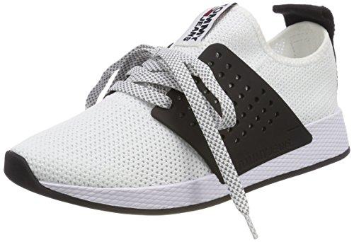 Hilfiger Denim Damen Tommy Jeans Knit Sneaker, Weiß (White 100), 40 EU