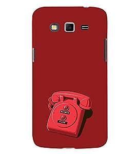 EPICCASE red phone Mobile Back Case Cover For Samsung Galaxy Grand (Designer Case)