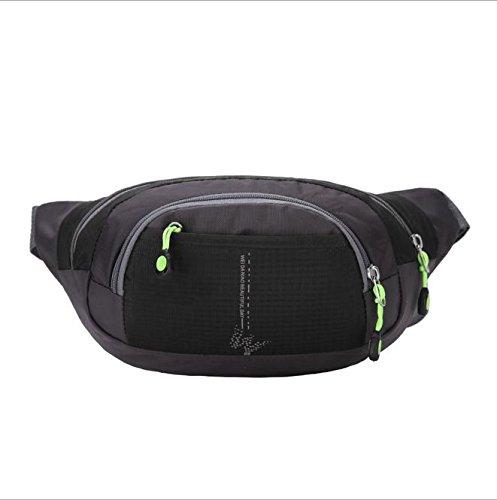 Z&HX sportspurse Hip Pack Reisetaschen Bergsteigens Tasche Rucksack im Freien Multifunktions Black