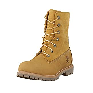 Timberland Women's Authentics Teddy Fleece Waterproof Fold Down Boot, 4 9