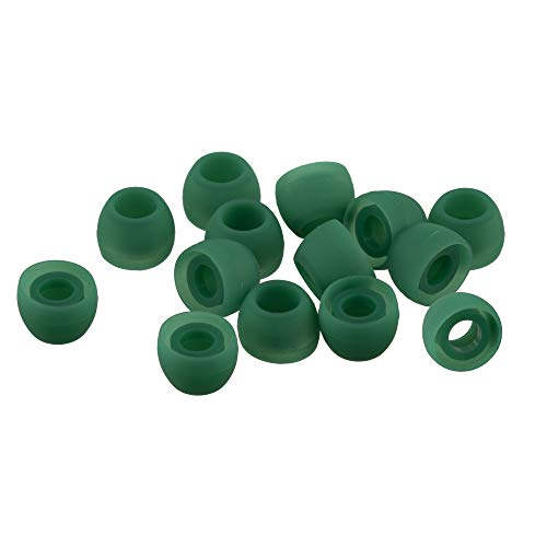 Xcessor 7 Paar (Satz Mit 14 Stück) Hochwertige Gummi Silikon Ohrpolster Ohrstöpsel Für In-Ear Ohrhörer. Kompatibel Mit Den Meisten In-Ohr Markenkopfhörern. Größe: M (Mittel). Grün