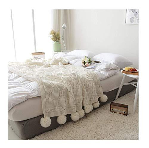 Tao Chenille Strickdecke zum Fernsehen oder Nickerchen auf Stuhl, Sofa und Bett Dekoration Decke 130x160cm (Chenille-patchwork-bettdecke)