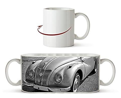 Alter Oldtimer klassiker Effekt: Schwarz/Weiß als Motivetasse 300ml, aus Keramik weiß, wunderbar als Geschenkidee oder ihre neue Lieblingstasse.