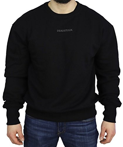 Deadstock oversized Sweater   Sweatshirt Pullover Black