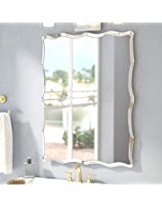 Quality Glass Frameless Decorative Mirror | Mirror Glass for Wall | Mirror for bathrooms | Mirror in Home | Mirror Decor | Mirror Size : 18 X24inch