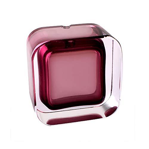 Luxus Kristall Aschenbecher Kreative Persönlichkeit Trend Multifunktionale Nette Schlafzimmer Wohnzimmer Europäischen Glas Aschenbecher Groß (Color : Rose Purple)