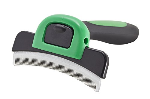 G-K-P Dog brush & Dog grooming tool size L for the perfect fur care with Curved Tool For short-haired & long-haired dogs. With a curved edge of 10 cm. For medium & large dog sizes from 21 KG upwards.