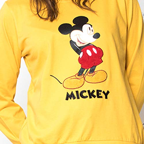 Disney - Pijama Mostaza Mickey Mujer Mujer