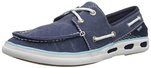 Columbia Vulc N Vent Boat Canvas, Chaussures Bateau Femme Multicolore - Multicolor (Collegiate Navy/Candy Mint)